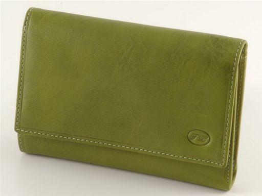 Portafogli in pelle donna Verde TL140450