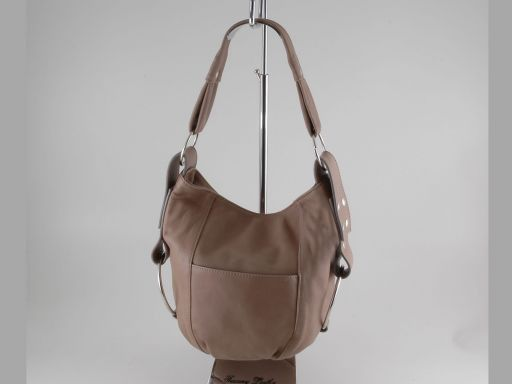 Lara Lady leather handbag Light Taupe TL100480