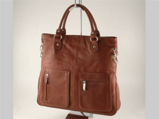 Camilla Borsa Shopping Grande in pelle Marrone TL140491