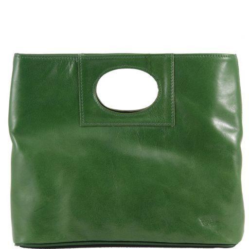 Mary Borsa in pelle con manico rotondo Verde TL140495