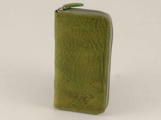 Esclusivo portachiavi in pelle Verde TL140514